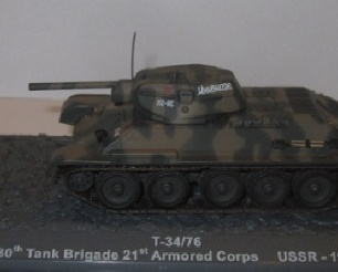 T34/76 130th Tank Brigade 21st Armoured Corps (USSR) 1942